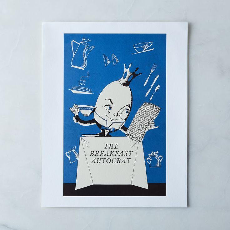 Vintage Menu Print: The Breakfast Autocrat on Food52