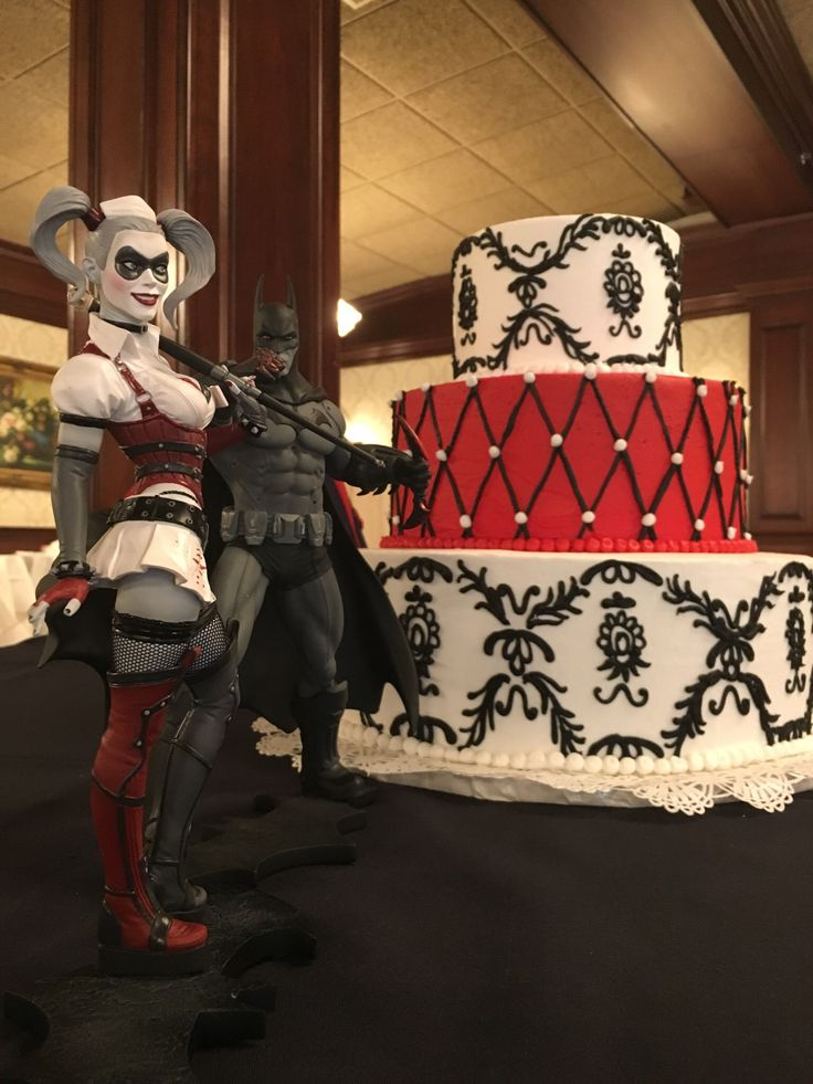 Batman And Harley Quinn Wedding Cake Cake Pinterest