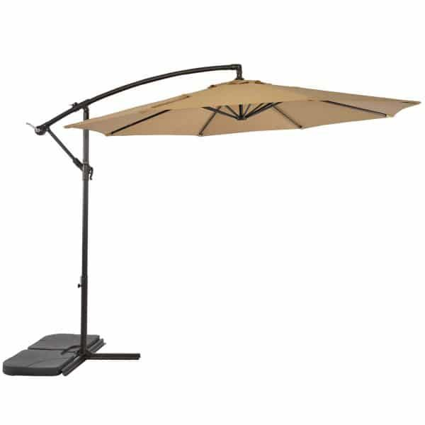Top 10 Best Offset Patio Umbrellas For Garden Backyard Poolside In 2020 Reviews Hqreview Patio Umbrella Lights Patio Umbrellas Outdoor Umbrella Lights
