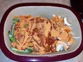 Pampered Chef Deep Covered Baker Chicken Fajitas