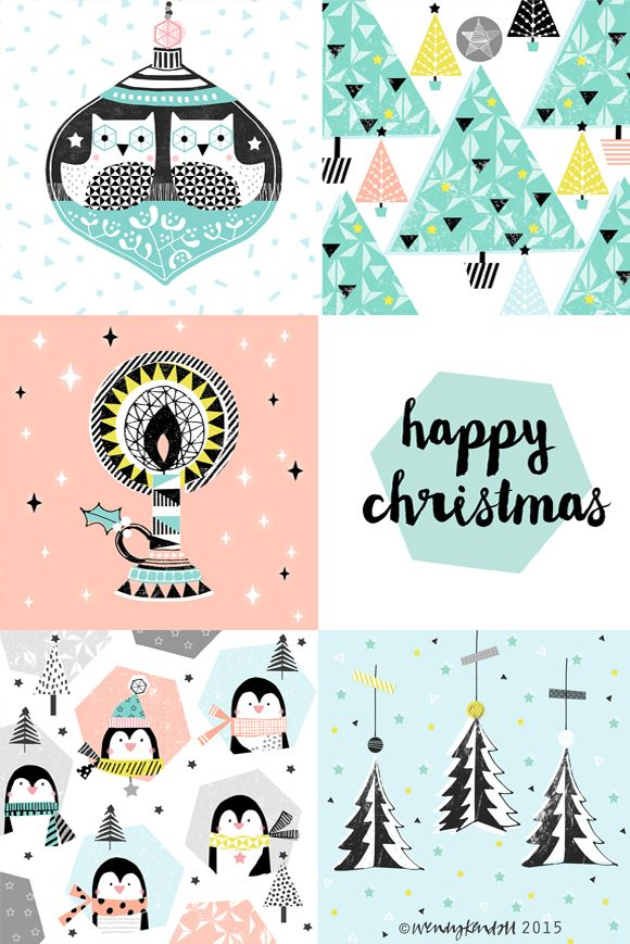wendy kendall designs – freelance surface pattern designer » geometric christmas