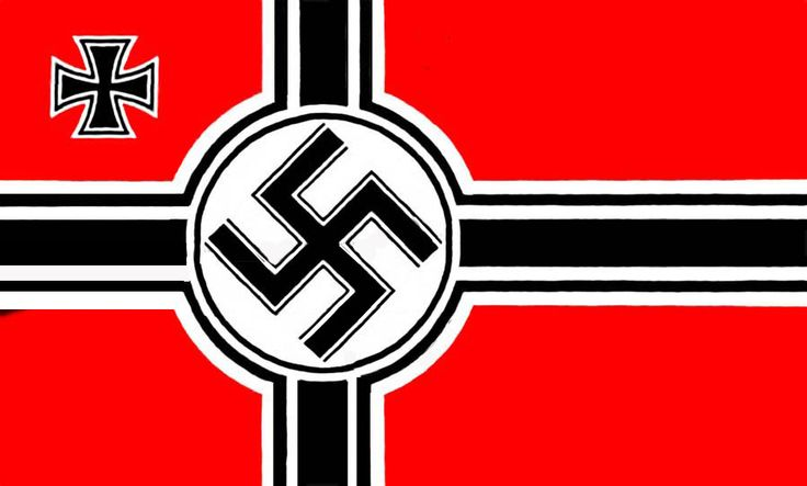 This is a picture of the Nazi flag with a swastika that represents the power of Nazi Germany. This relates to the novel when Rosa and Hans are worried that they will not find their flag to hang up outside their house to celebrate Hitler's birthday. They end up finding just in time before the Nazis could question the Hubermanns.