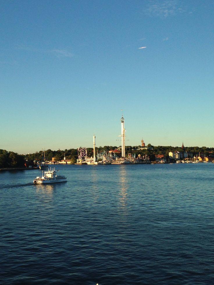 View of Djurgården and Gröna Lund from Fotografiska (museum of photography)  #stockholm #nature #travel #tips #tourist #sweden