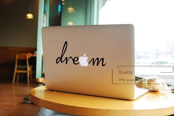 dream macbook decal/Decal for Macbook Pro Air or par ohyeahdecal, $9.99