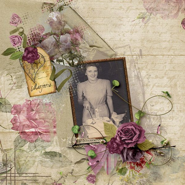 Marjorie created with Tea Roses