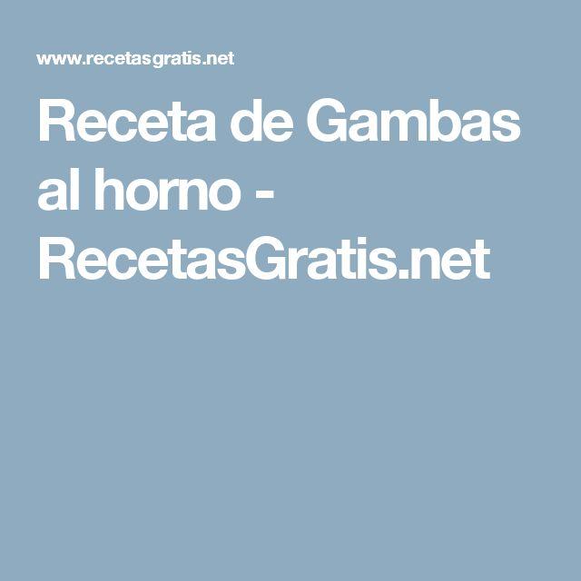 Receta de Gambas al horno - RecetasGratis.net