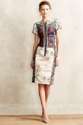 Beguile by Byron Lars Pieced Brocade Dress #anthrofave