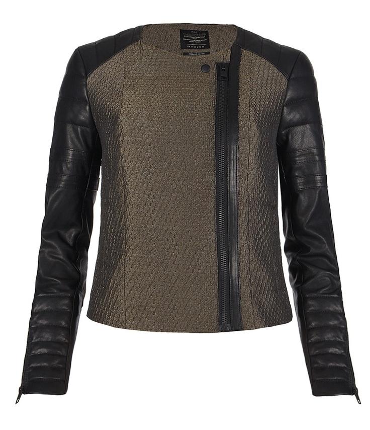 Abel Leather Jacket, Women, Leather, AllSaints Spitalfields