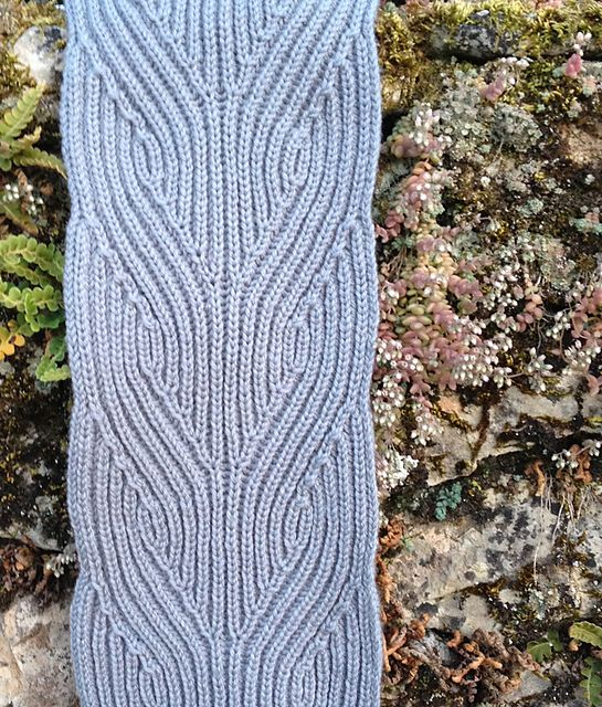Ravelry: Hegg Braid Brioche Scarf pattern by Nancy Marchant