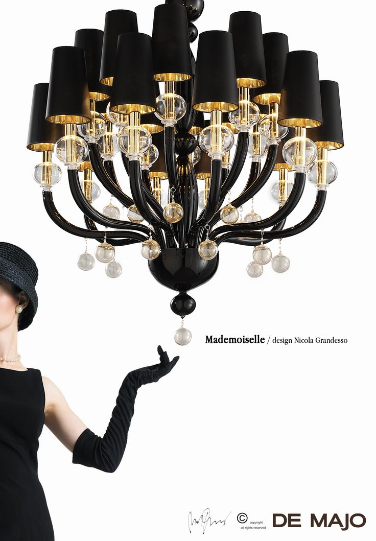 Mademoiselle. #HandMadeChandelier #ExclusiveLighting #LuxuryChandelier  #deMajoIlluminazione
