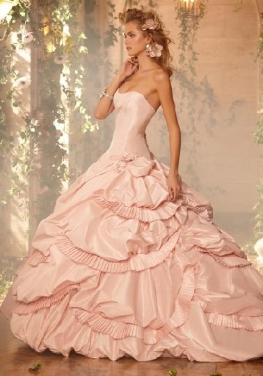 lds wedding ball gowns: Wedding Dressses, Idea, Ball Gowns Dresses, Pink Wedding Dresses, Blushes Pink, Style, Pink Weddings, Pink Dress, Pink Gowns