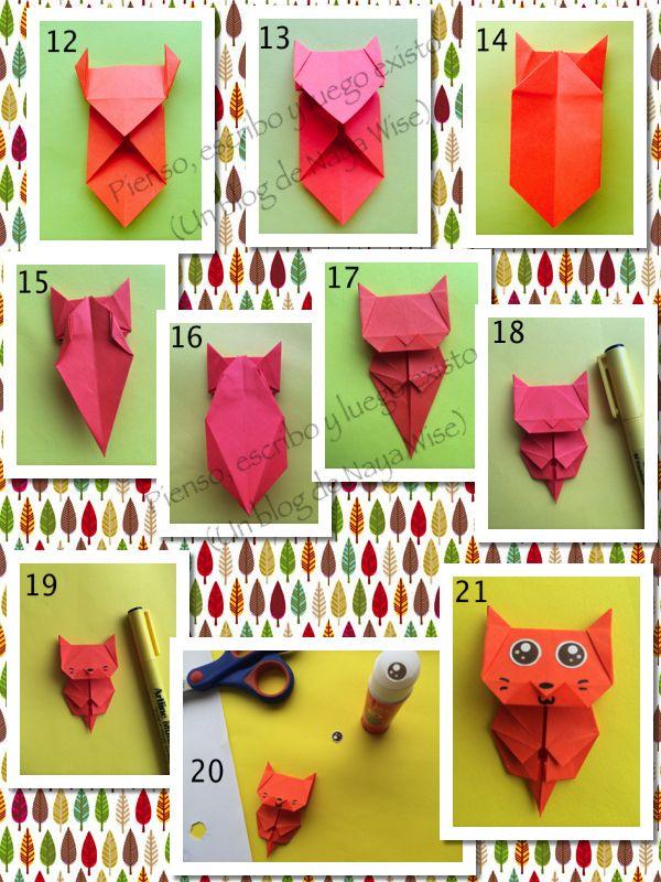 Hoy les traigo un pequeño tutorial acerca de cómo hacer unos adorables marcadores de origami. Advertencia: Tengan un poco de paciencia con las imág...