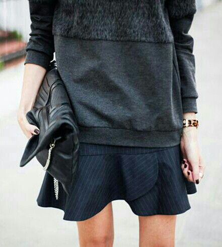 forma falda corta de invierno