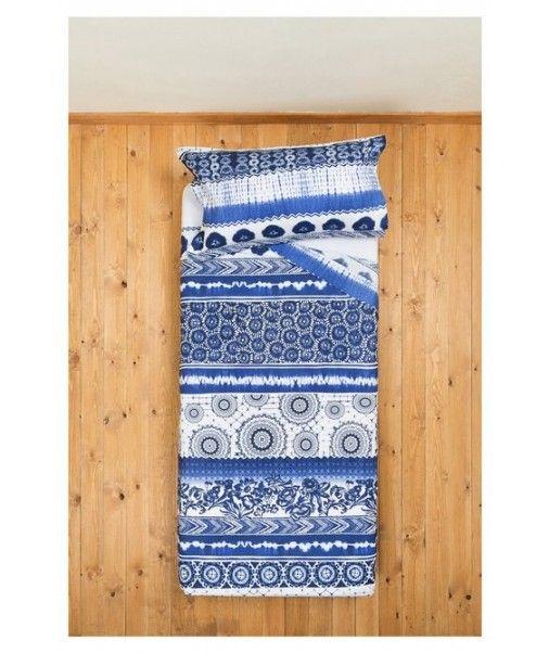 Desigual set lenzuola letto singolo 1 piazza EXOTIC JEANS blu