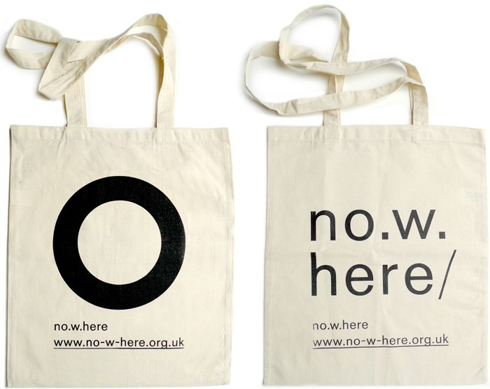 Tote bag designs for no.w.here