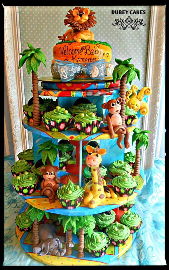 Jungle Baby Shower Edible Art In 2019 Safari Baby
