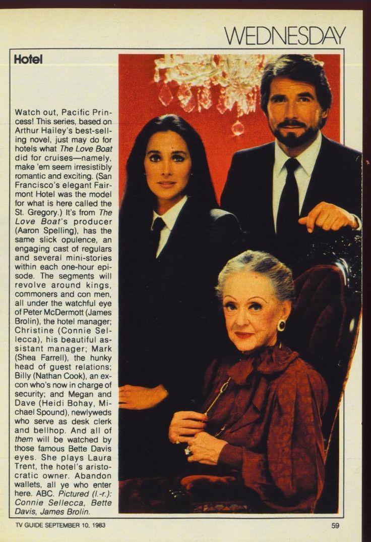 1983 TV Guide Ad Hotel Bette Davis Connie Sellecca ABC