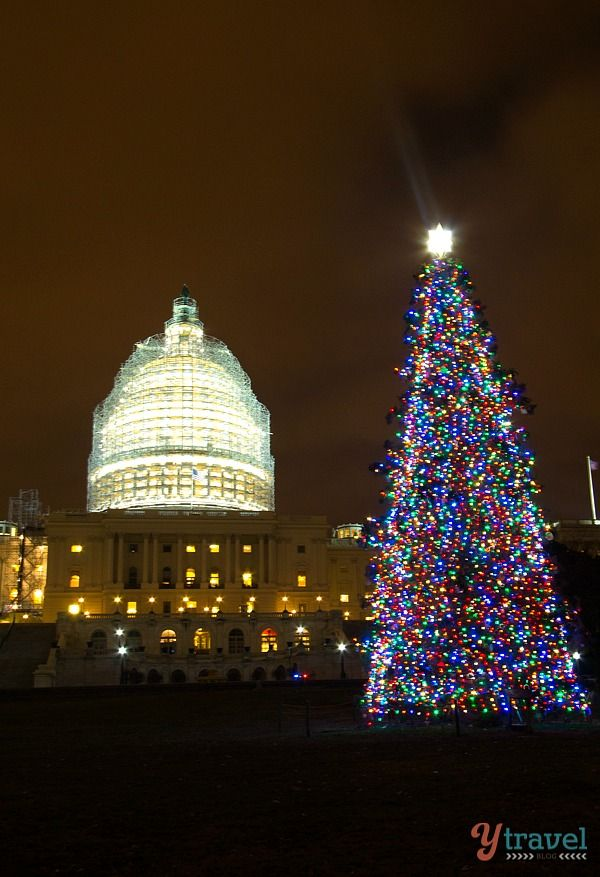 The Capitol Building at Christmas - Things to see in Washington DC