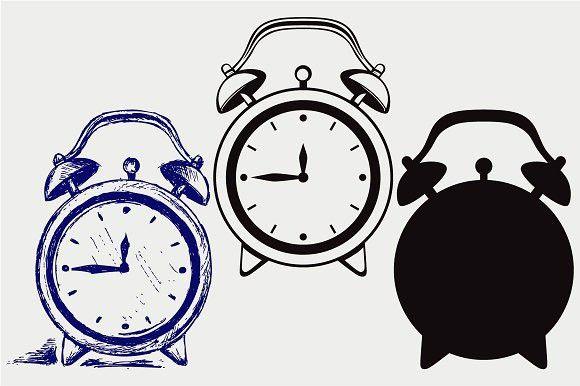 Alarm clock SVG DXF  Clock #alarm #alert | Clock Design