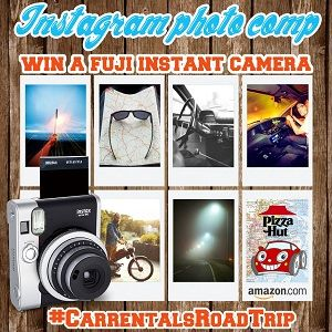 Our new #competition starts today! Upload your roadtrip pictures using the tag #carrentalsroadtrip to Instagram for your chance to win a #Fujifilm camera and #Amazon and #Pizzahut vouchers. T+C's apply. Keep looking for 'Pic of the week', it might be yours!