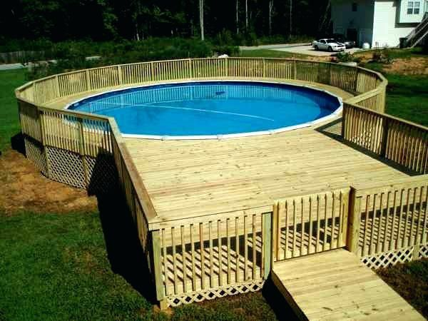 Deck Out Of Pallets Pool Deck Out Of Wooden Pallets Closed Deck Pallets Pool Deck Plans Above Ground Pool Decks Building A Deck