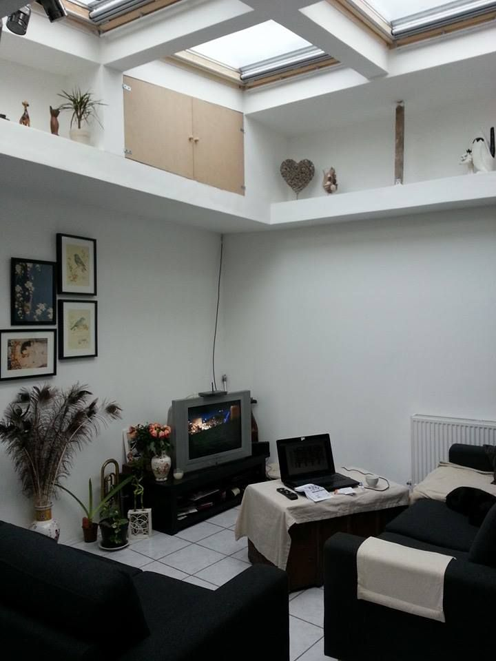 Ma maison ma pièce préférée <3<3 salon / puis de lumière velux / rangement / cadre /