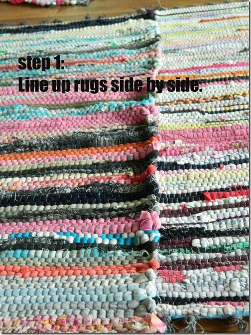 Cheap Area Rag Rug Diy