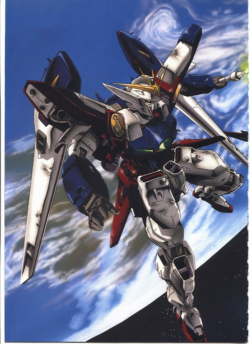 The XXXG-00W0 Wing Gundam Zero (aka Wing Zero) is a mobile suit that appears in Mobile Suit Gundam Wing and its sequel OVA/movie Endless Waltz. Though having many pilots during its lifetime, the unit was most famously piloted by the series' main protagonist Heero Yuy.