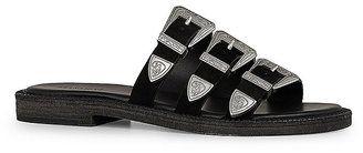 ALLSAINTS Gianna Buckle Slide Sandals - $228.00