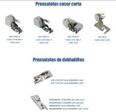 Máquinas y accesorios para la confeccion domestica e industrial. Prensatelas para maquinas de coser. Reglas de patronaje. Goma virgen