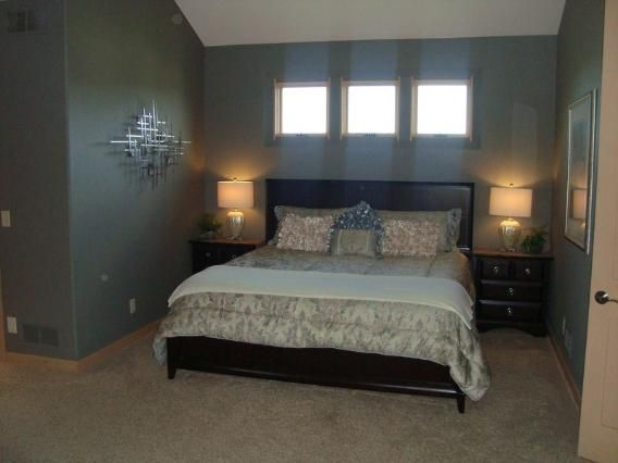 Master Bedroom Design The Legends Home Transom Windows Accent Walls Vaulted Ceiling