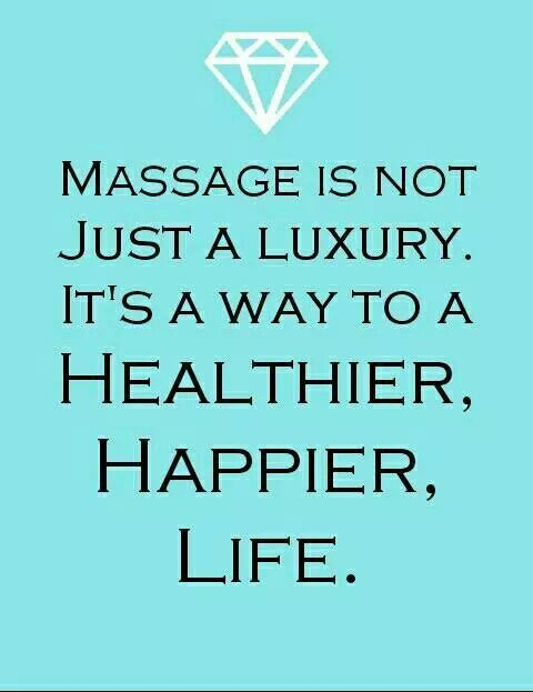 This is so true - Massage is NOT just a luxury...