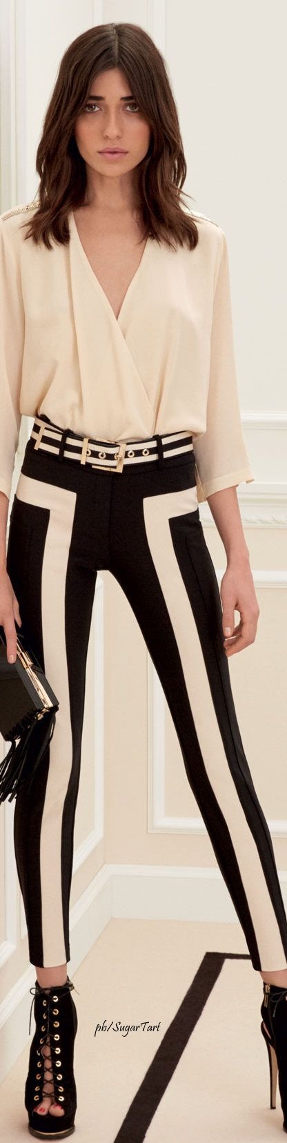 Elisabetta Franchi S/S 2016 LookBook. What a cool pair of pants!