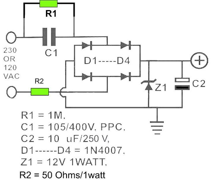 12v Dc Power Supply Without Transformer