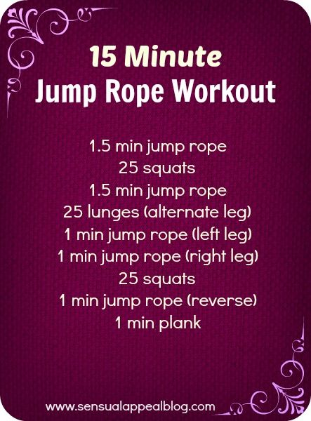 3 Ways To Add More FUN To Your Fitness Routine - 15 Minute Jump Rope Workout #fitness #workout by sensualappealblog.com