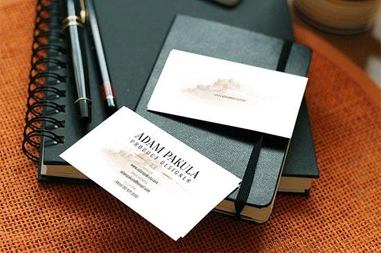 Free Business Card Mockup On Leather Moleskine