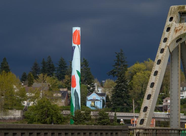 The tulip tower in downtown Mount Vernon, Washington ...