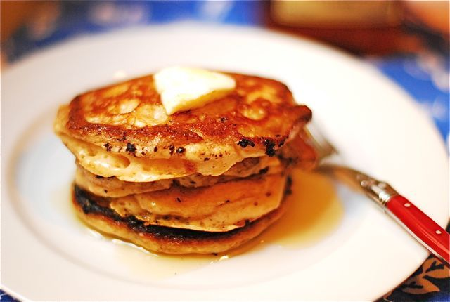 Vanilla Bean Pancakes with Cinnamon Maple Syrup | Recipe | Homemade ...