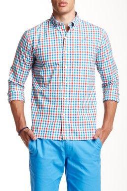 Hile Tattersall Shirt Slim Fit Long Sleeve Shirt