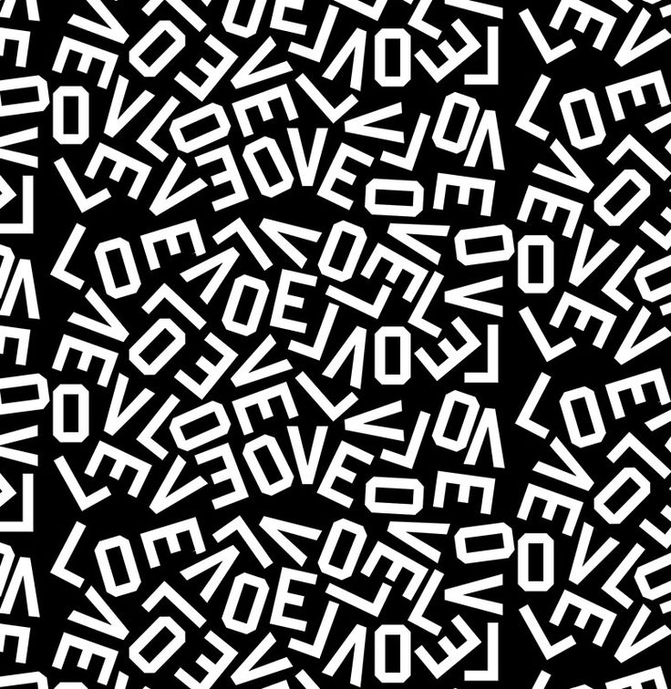 LOVE scattered letters, white