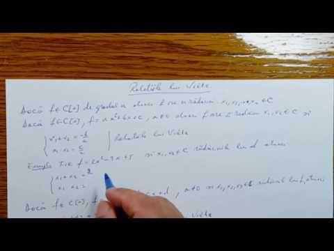 Relatiile lui Viete - Algebra - Clasa a XII-a   120304-01