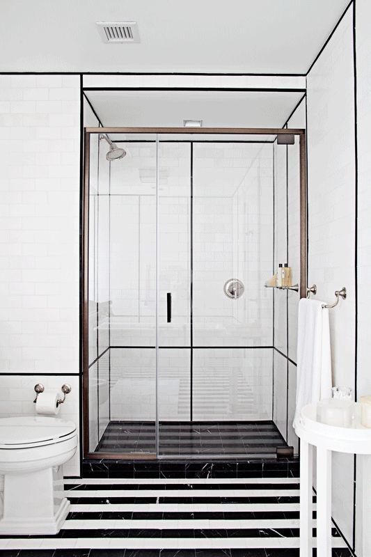 Striped Bathroom Floor
