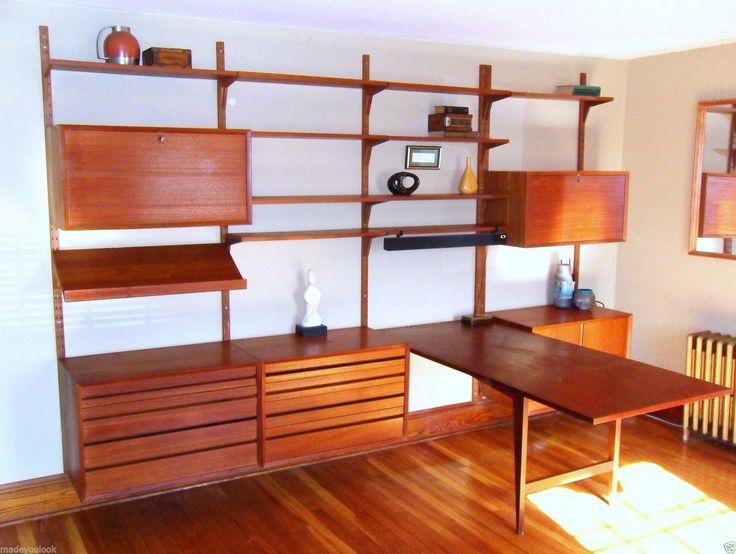 giant 21 ft mid century modern cabinet cado rail teak. Black Bedroom Furniture Sets. Home Design Ideas