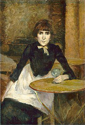 Henri de TOULOUSE-LAUTREC | At the Bastille, Jeanne Wenz [A La Bastille, Jeanne Wenz]