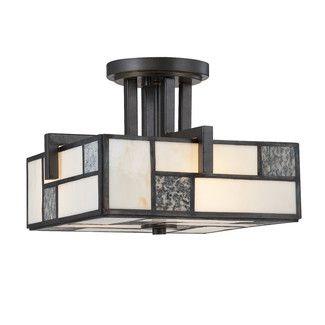 <strong>Designers Fountain</strong> Bradley 3 Light Semi-Flush Mount