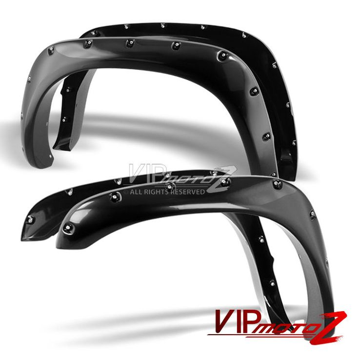 2002-2008 Dodge Ram 1500 03-09 Ram 2500 3500 POCKET-RIVET Paintable Fender Flare #VIPMOTOZ