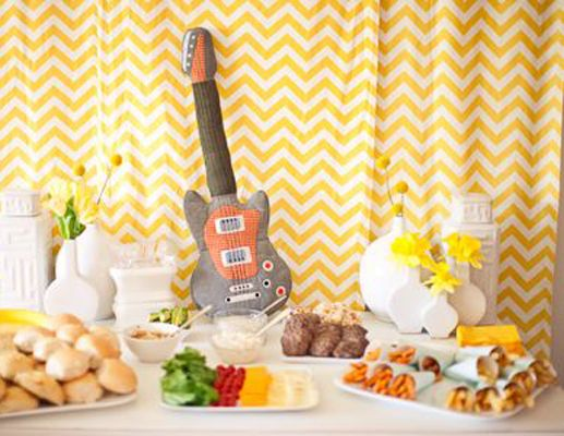 Rock and roll theme baby shower