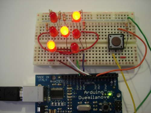 You rolled 3!  Arduino powered electronic dice. I want to make this as my first Arduino project.