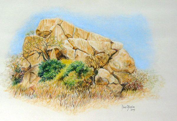 Study of rock crop Mvurwe (Umvukwes) Zimbabwe