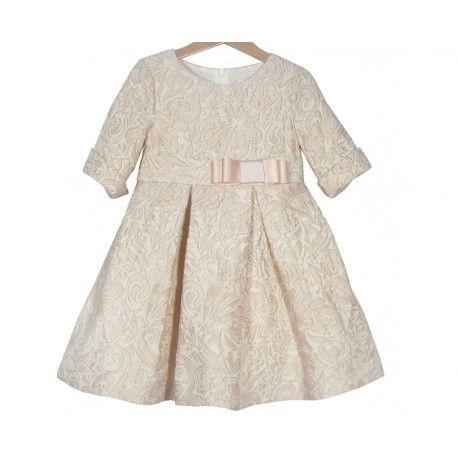 OUTLET de www.pepaonline.com  Ideal! Vestido labrado rosa empolvado de la Marca Magnífica Lulú en la sección Outlet de Ceremonia. Compra online las mejores marcas de ropa para niños